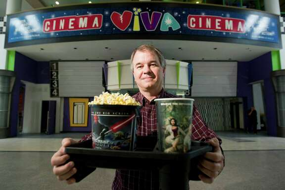 Art Seago, COO, of Viva Cinema, a new movie theatre focusing on the Latin American audience in PlazAmericas Tuesday, May 14, 2013, in Houston.  The theatre will have a sports bar and restaurant attached and allow movie goers to bring their dinner and drinks into the cinema. The facility also will have a playground and activities for children and families. ( Johnny Hanson / Houston Chronicle )