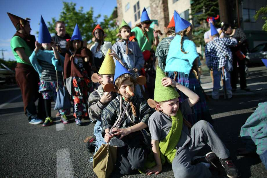 Members of the Ballard Boys and Girls Club prepare to march during Ballard's annual Syttende Mai parade. The parade celebrates Norwegian Constitution Day and is one of the largest celebrations outside of Oslo. Photographed on Friday, May 17, 2013. Photo: JOSHUA TRUJILLO / SEATTLEPI.COM