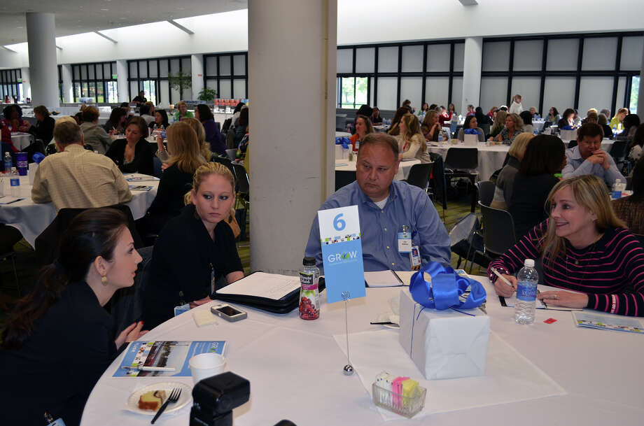 Fluor employees participate in an interactive workshop that focused on developing women in leadership roles.