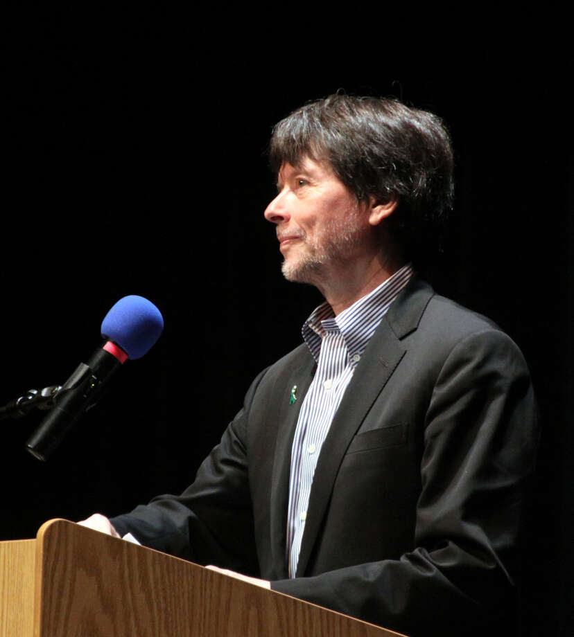 Ken Burns, legendary documentary film maker, spoke to a full house at New Milford High school last Friday evening on the American Experience and the importance of the United States in the course of human events.' Photo: Walter Kidd / The News-Times Freelance