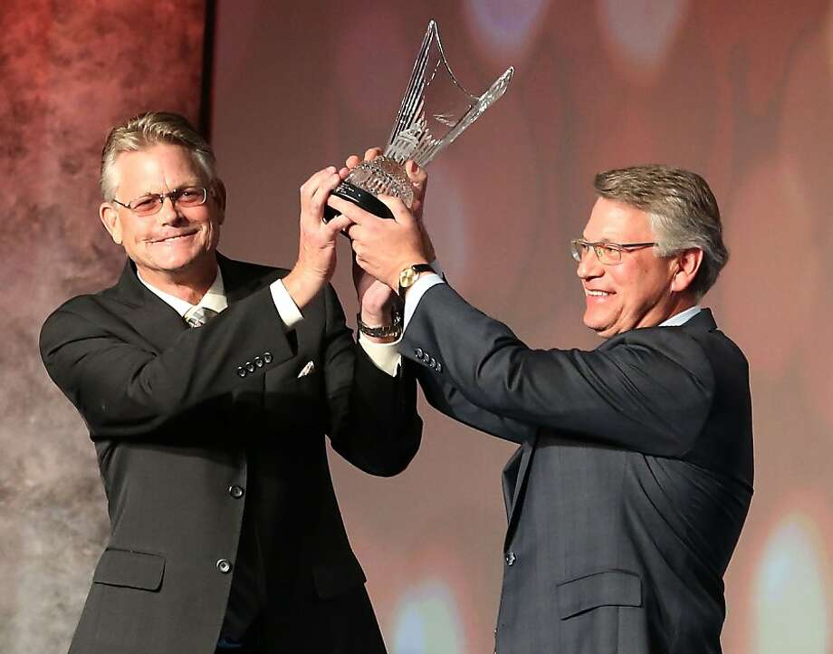 Matt and Tim Venturi, son's of Ken Venturi, induct their father into the World Golf Hall of Fame on May 6, 2013 at the World Golf Village in St Augustine, Florida. Photo: Marc Serota, Getty Images