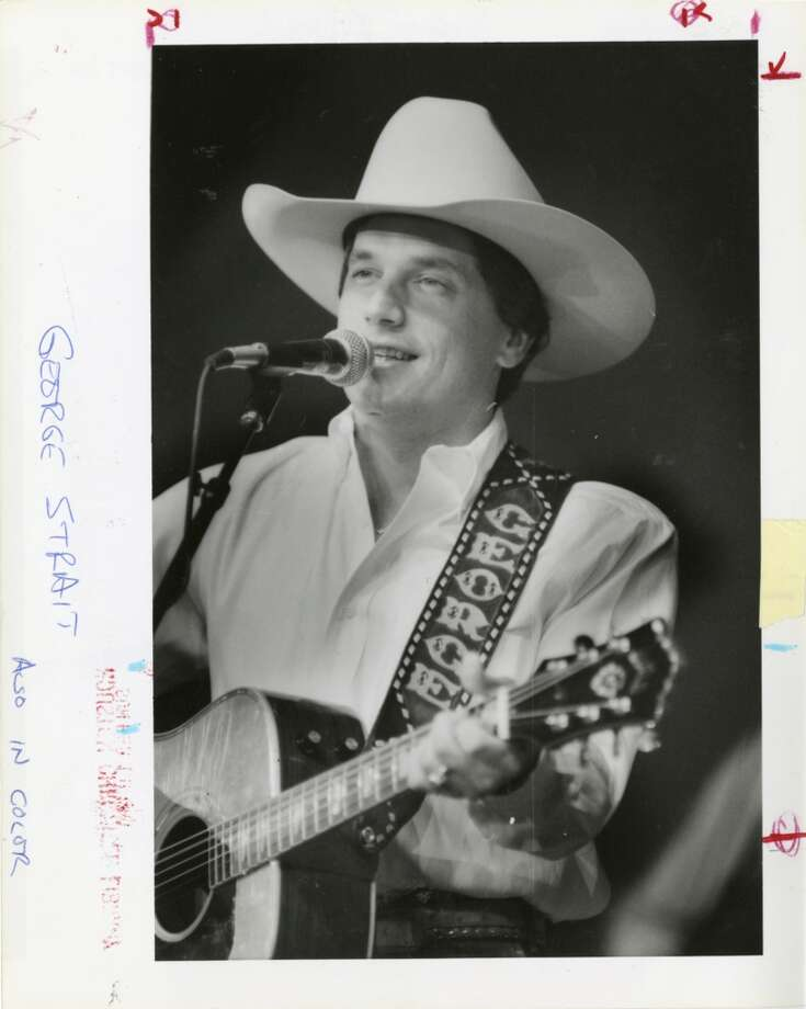 George Strait at the Houston Livestock Show and Rodeo, Feb. 25, 1987.