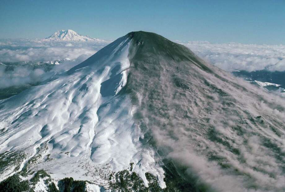 The mountain stirs in this aerial photo taken early in 1980. Photo: James Balog, Getty Images/Aurora Creative / Aurora Creative