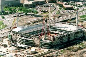 Alamodome unfinished. SAN ANTONIO EXPRESS-NEWS