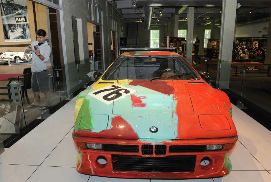 An Andy Warhol painted the M1 BMW on display at the Saratoga Automobile Museum on Saturday May 18, 2013 in Saratoga Springs, N.Y. (Michael P. Farrell/Times Union) Photo: Michael P. Farrell