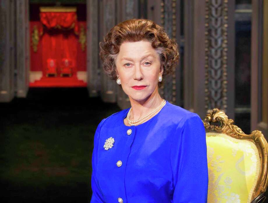 "This undated image released by Boneau/Bryan-Brown shows Helen Mirren as Queen Elizabeth II in a promotional photo for Peter Morgan's play ""The Audience."" National Theatre Live will broadcast to movie theaters a live performance of the West End world premiere on June 13.  (AP Photo/Boneau/Bryan-Brown, Johan Persson) Photo: Johan Persson"