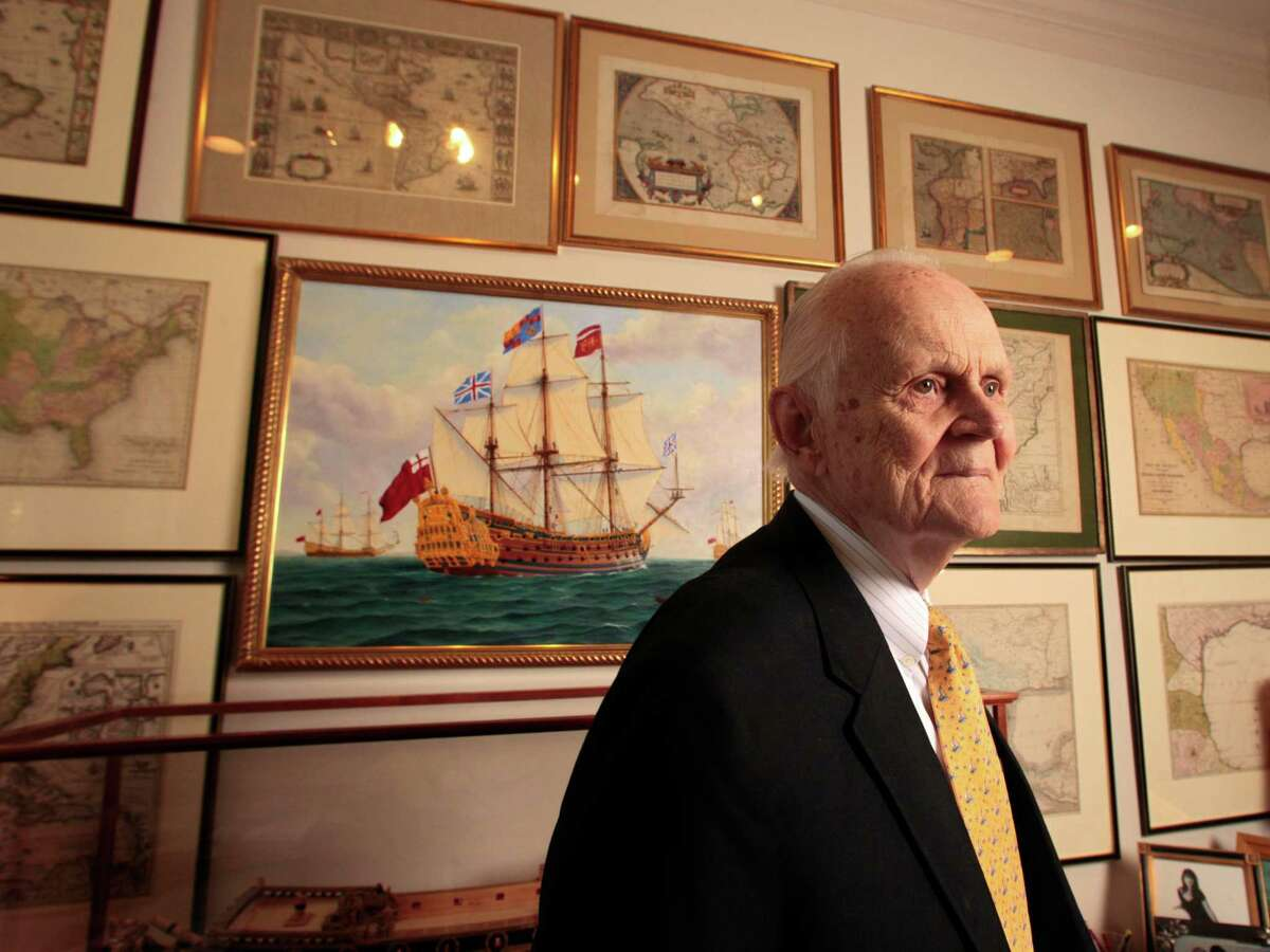 Carrington Weems II's office is filled with his collection of 52 model ships and antique maps. He owns more than 700 maps.