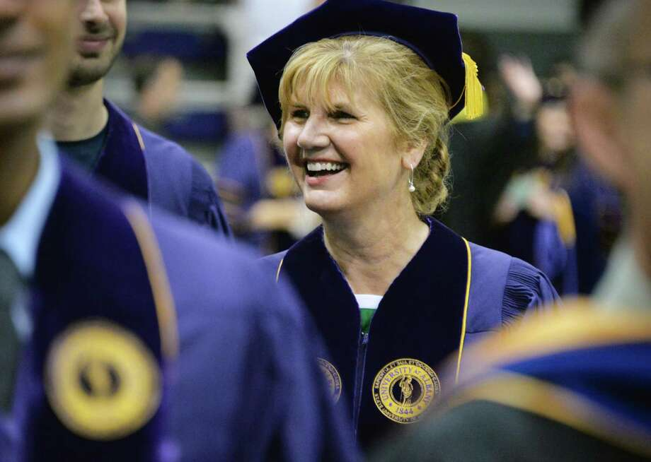 Lenore Horowitz, Ph.D. of Clifton Park during UAlbany Graduate college commencement ceremonies in Albany, NY Saturday May 18, 2013.  (John Carl D'Annibale / Times Union) Photo: John Carl D'Annibale / 10022137A