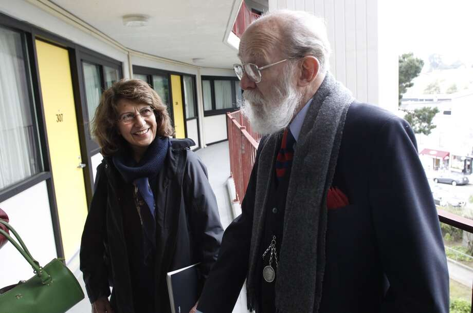 Barbara Smith, interim director of the Housing Authority, meets with 15-year resident John Gaul, as they tour the JFK Towers in San Francisco, Ca. on Wednesday Mar. 27, 2013. San Francisco Mayor Ed Lee is moving to remake the troubled city's Housing Authority. Photo: Michael Macor, The Chronicle