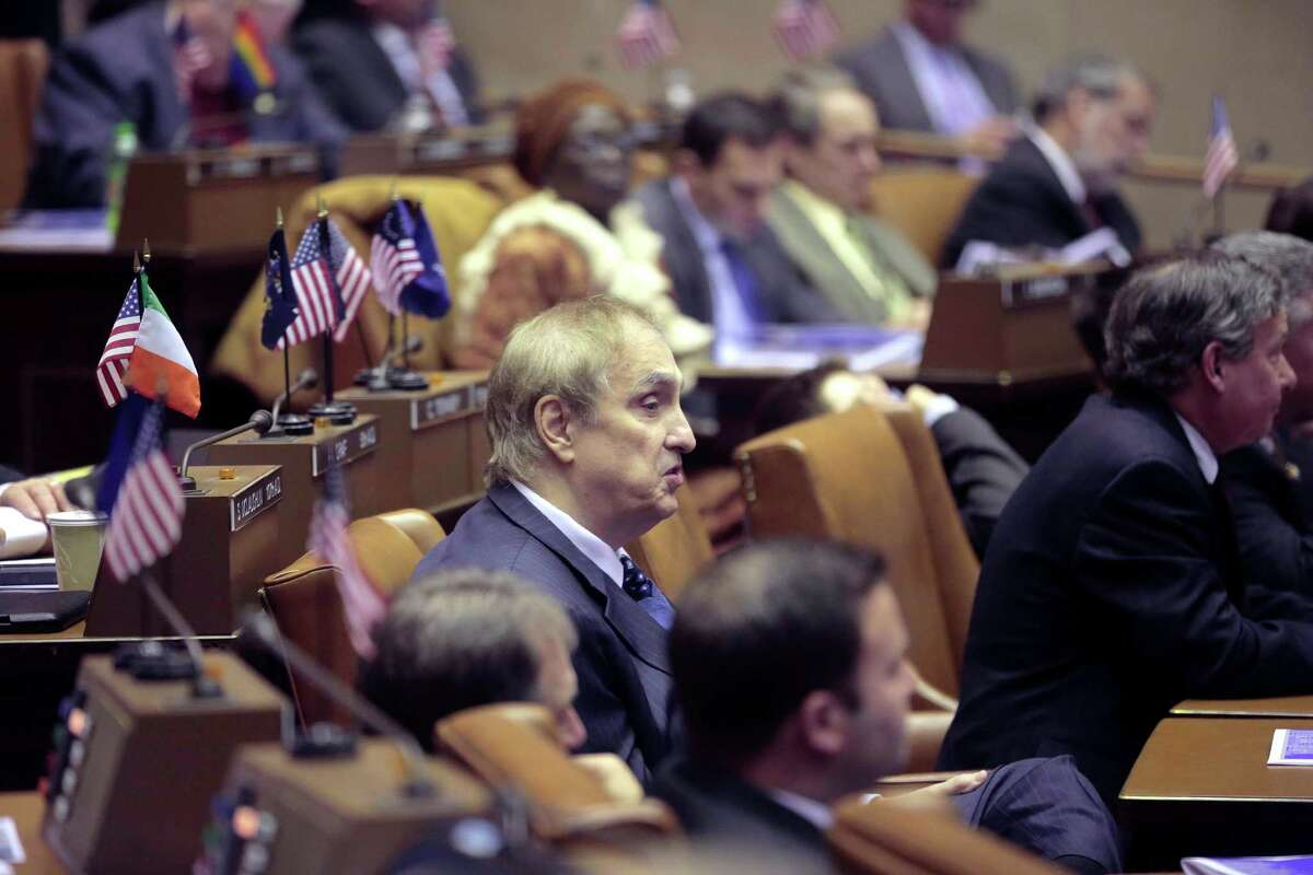 FILE -- New York State Assemblyman Vito Lopez, in the Assembly chamber, in Albany, N.Y., Jan. 14, 2013. Lopez, who was accused of sexually harassing multiple female employees, said May 17, he would resign and instead run for New York City Council. (Nathaniel Brooks/The New York Times)