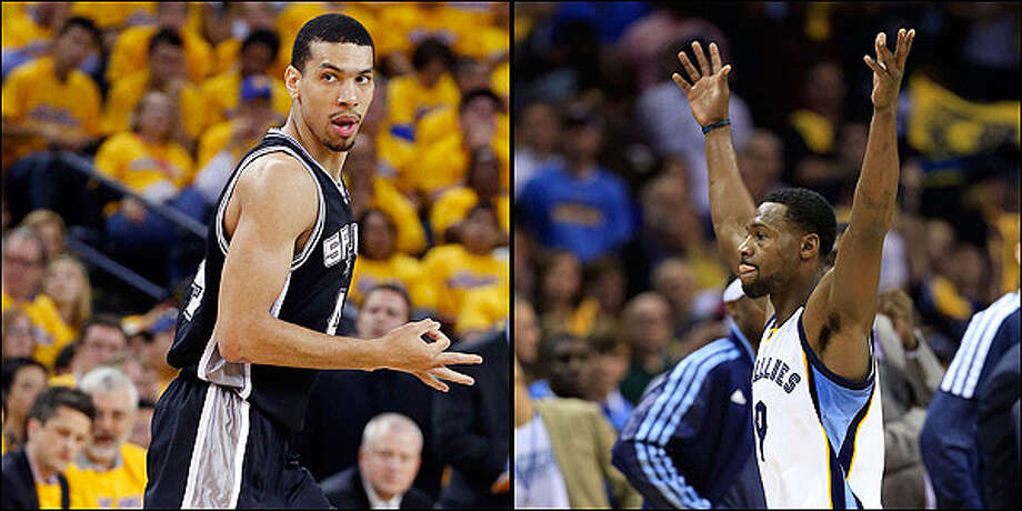 Shooting guard: Spurs' Danny Green vs. Grizzlies' Tony Allen. Edward A. Ornelas / San Antonio Express-News and Jamie Squire / Getty Images / © 2013 San Antonio Express-News