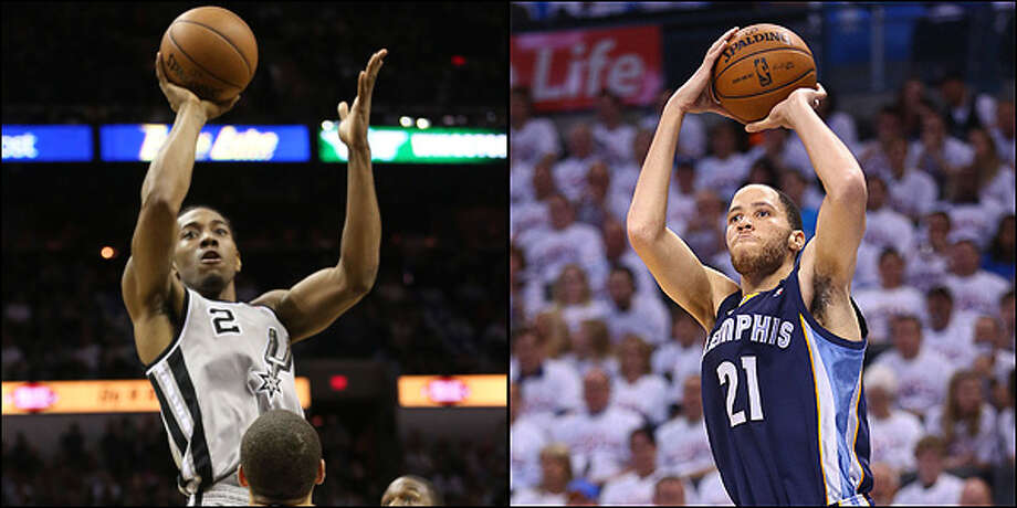 Small forward: Spurs' Kawhi Leonard vs. Grizzlies' Tayshaun Prince. Jerry Lara / San Antonio Express-News and Ronald Martinez / Getty Images / ©2013 San Antonio Express-News