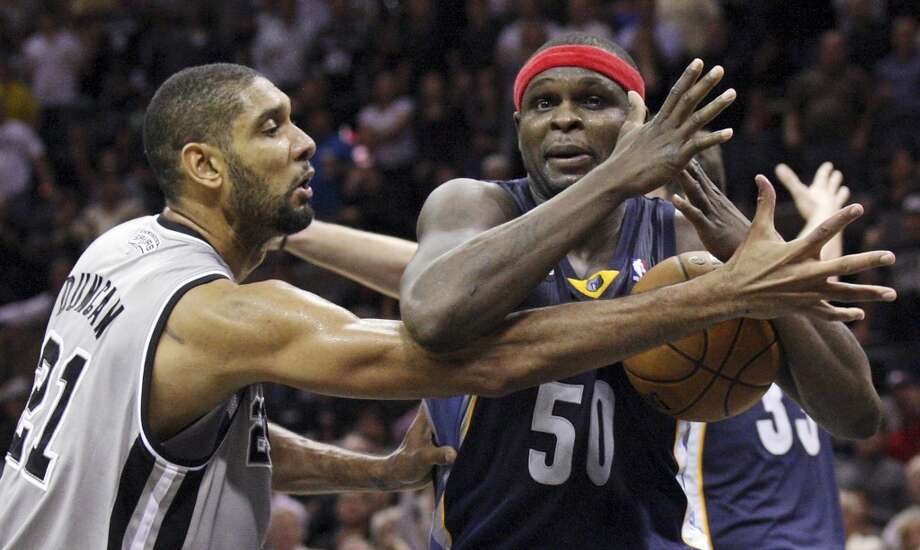 Power forward: Spurs' Tim Duncan vs. Grizzlies' Zach Randolph.