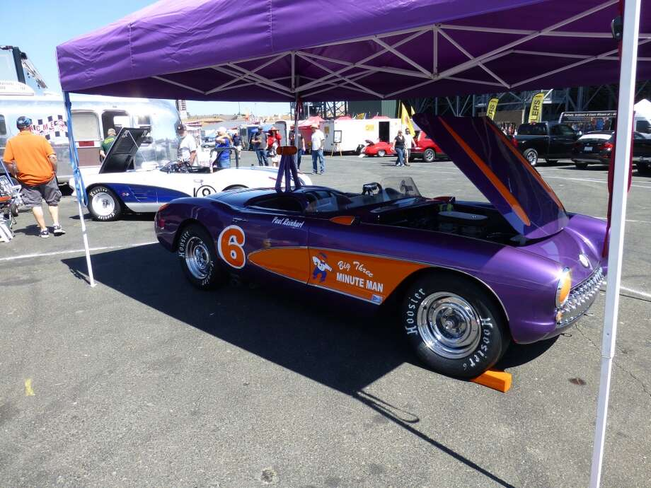 A 1957 Corvette that belongs to Paul Reinhart of Twain Harte, Calif. Corvettes were the sentimental favorite at Sonoma Raceway, given the marque's 60th anniversary