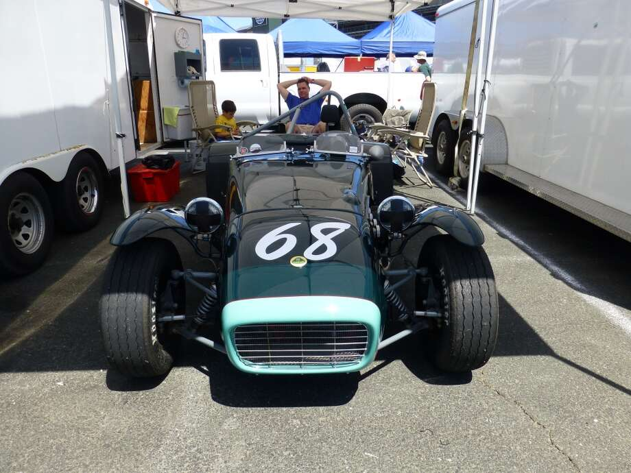 A Lotus Super 7 that belongs to Ron Bennett of Inverness, Calif.