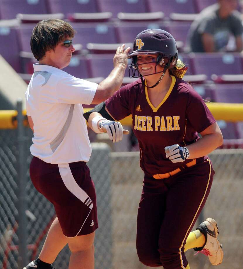 Deer Park's Payton McBride heads for home after hitting a three-run blast in the third inning. Photo: Dave Rossman, Freelance / © 2013 Dave Rossman