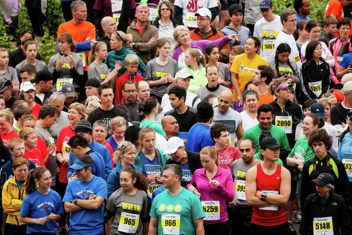 A record-setting 11,000 attendees participated in the 31st annual Nordstrom Beat the Bridge event Sunday, May 19, 2013, in Seattle. The fundraiser for JDRF is the largest charitable supporter of type 1 diabetes research. The event consists of an 8K run and wheelchair race, a 4-mile walk, a 1-mile fun run and the Diaper Derby for toddlers.