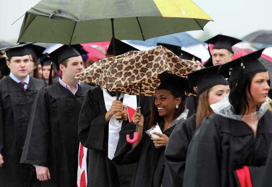 Fairfield University celebrates its 63rd Commencement ceremony on the Fairfield, Conn. campus on Sunday, May 19, 2013. Photo: BK Angeletti, B.K. Angeletti / Connecticut Post freelance B.K. Angeletti