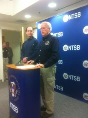 Right to left; NTSB Board Member Earl Weener and lead investigator Michael Hiller