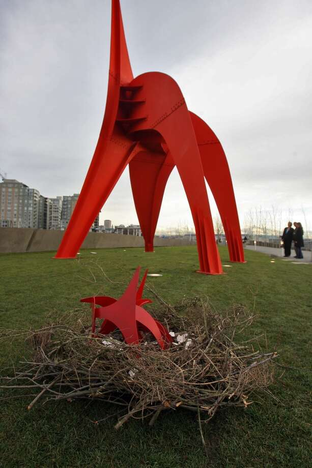 A nest of ''Eaglets'' – mini-versions of Alexander Calder's ''Eagle'' sculpture -  appeared overnight in the grass at the Olympic Sculpture Park in 2007.