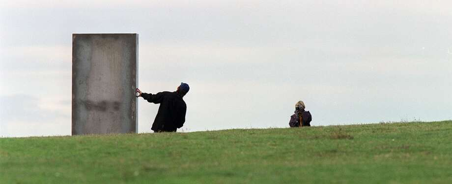 In 2001, someone put a 10-foot monolith on Kite Hill in Magnuson Park.
