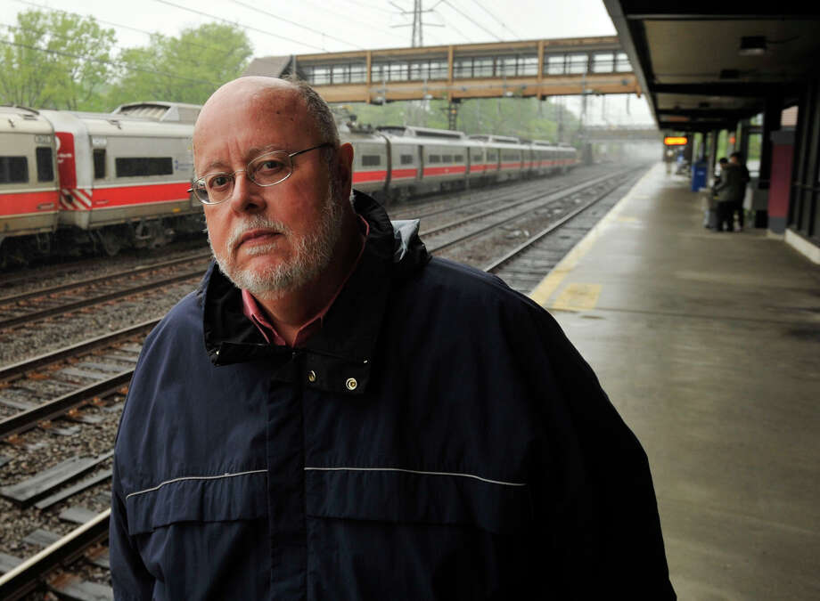 Jim Cameron is the chairman of the Connecticut Rail Commuter Council. Photographed at Noroton Heights train station in Darien on Sunday, May 19, 2013. Photo: Jason Rearick / Stamford Advocate
