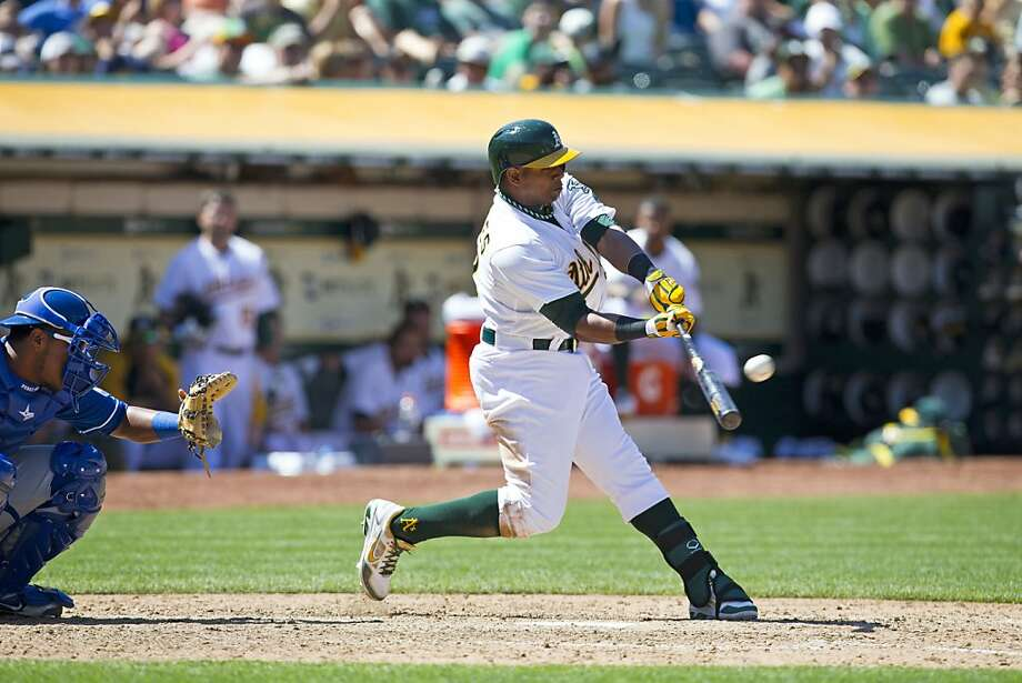 Yoenis Céspedes' home run was his eighth this season. Photo: Jason O. Watson, Getty Images