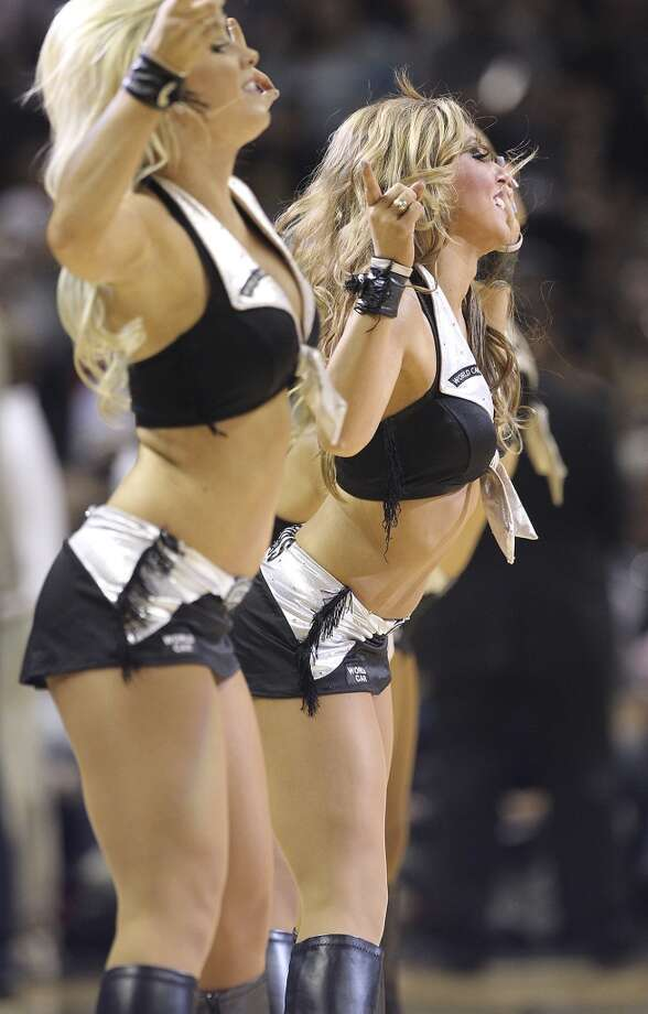 The Silver Dancers perform during Game 1 between the Spurs and Grizzlies in the 2013 Western Conference Finals at the AT&T Center on Sunday, May 19, 2013.
