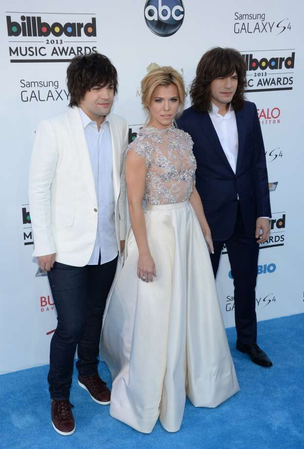 The Band Perry arrives on the red carpet for the 2013 Billboard Music Awards at the MGM Grand in Las Vegas, Nevada, May 19, 2013.   AFP PHOTO / ROBYN BECKROBYN BECK/AFP/Getty Images