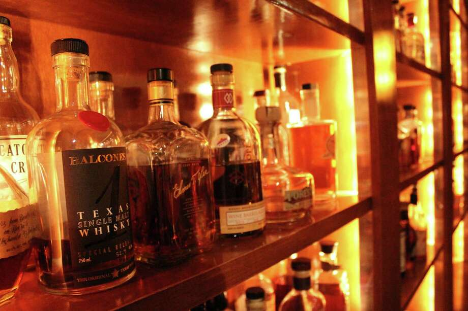 Balcones Distilling whiskey, which is produced in Waco, is among the collection of fine spirits at Brandy Library in New York City. Photo: Jennifer McInnis, San Antonio Express-News / San Antonio Express-News