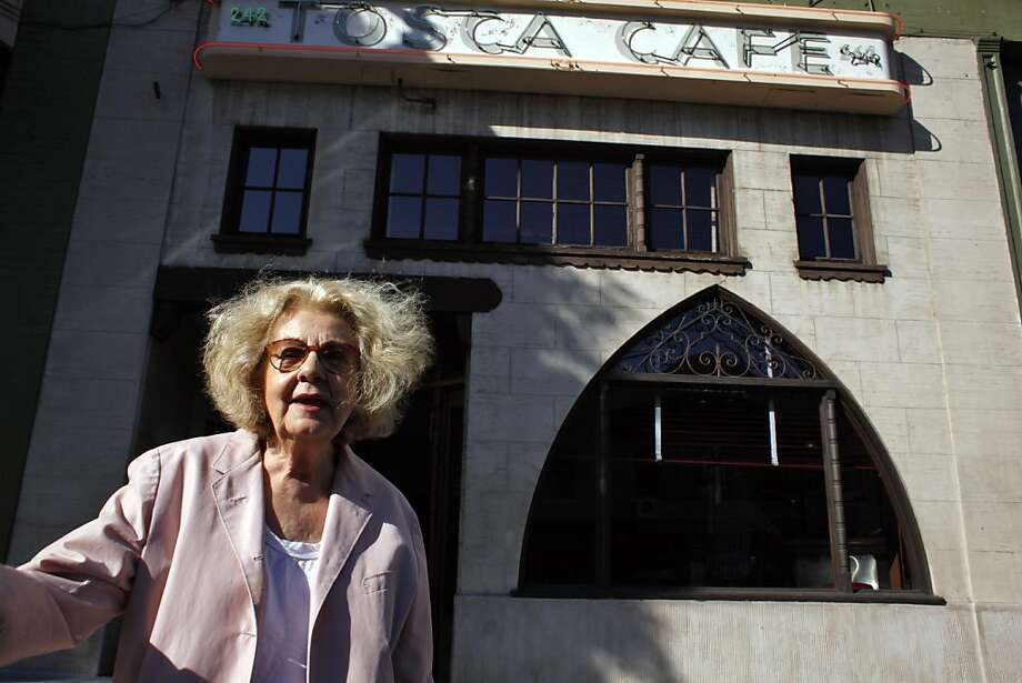 Jeannette Etheredge, owner of Tosca, stands outside the San Francisco icon on Sunday. Tosca Cafe in San Francisco, Calif., will be closing for a renovation and crowds gathered out the door to bid the San Francisco icon farewell on Sunday, May 19, 2013. Photo: Carlos Avila Gonzalez, The Chronicle