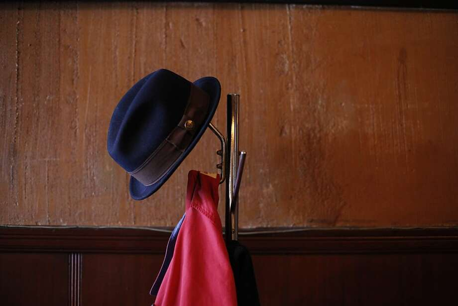 A hat rests on a coat rack at Tosca Cafe on Sunday, the last day it is to be open under its current ownership. Tosca Cafe in San Francisco, Calif., will be closing for a renovation and crowds gathered out the door to bid the San Francisco icon farewell on Sunday, May 19, 2013. Photo: Carlos Avila Gonzalez, The Chronicle
