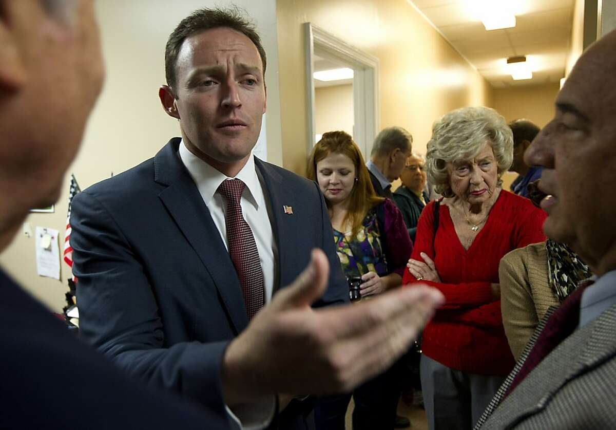 Patrick Murphy, the Democratic candidate for Florida's 18th Congressional District, talks to supporters during a
