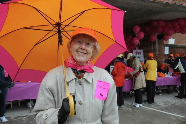 "Barbara Wilson, of Greenwich, registering at the Breast Cancer Alliance's ""Walk for Hope,"" at Richard's on Greenwich Avenue, in Greenwich, Sunday, May 19, 2013. The Alliance funds breast cancer research. Photo: Helen Neafsey / Greenwich Time"