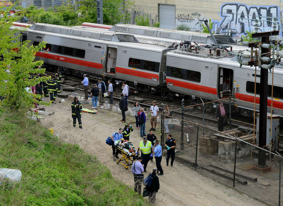 "If the affected railroad commuters took to the highways to reach work this week after Friday's derailment, ""we would literally have a parking lot,"" the Connecticut governor says. Photo: Christian Abraham / Connecticut Post"