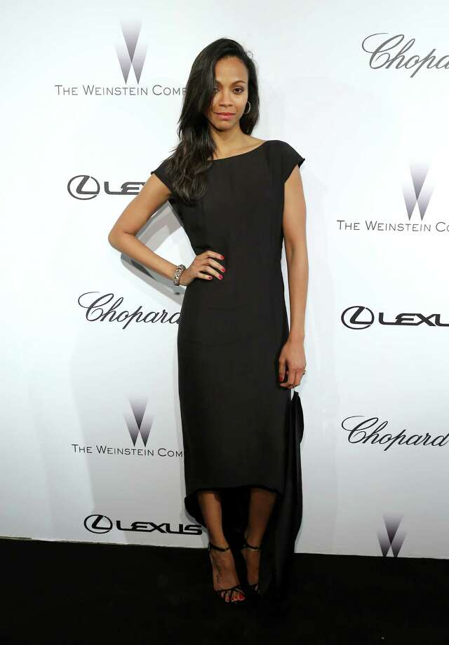 Actress Zoe Saldana attends The Weinstein Company Party in Cannes hosted by Lexus and Chopard at Baoli Beach on May 19, 2013 in Cannes, France. Photo: Neilson Barnard, Getty Images / 2013 Getty Images