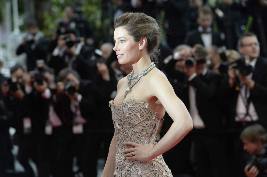 "US actress Jessica Biel poses on May 19, 2013 as she arrives for the screening of the film ""Inside Llewyn Davis"" presented in Competition at the 66th edition of the Cannes Film Festival in Cannes. Cannes, one of the world's top film festivals, opened on May 15 and will climax on May 26 with awards selected by a jury headed this year by Hollywood legend Steven Spielberg.     AFP PHOTO / ANNE-CHRISTINE POUJOULAT Photo: ANNE-CHRISTINE POUJOULAT, Getty Images / 2013 AFP"