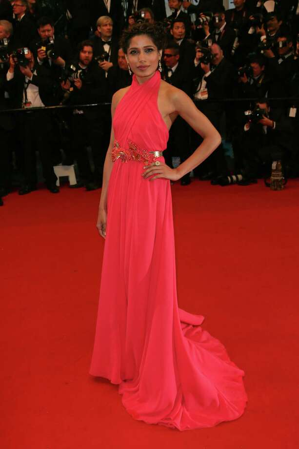 Freida Pinto attends the Opening Ceremony and Premiere of 'The Great Gatsby' at The 66th Annual Cannes Film Festival at Palais des Festivals on May 15, 2013 in Cannes, France.  (Photo by Tony Barson/FilmMagic) Photo: Tony Barson, Getty Images / 2013 Tony Barson