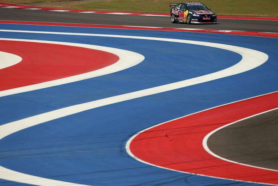 Jamie Whincup drives the No. 1 Red Bull Racing Australia Holden during qualifying for the Austin 400. Whincup has won seven of the last eight Australian V8 Supercar races. Photo: Robert Cianflone / Getty Images