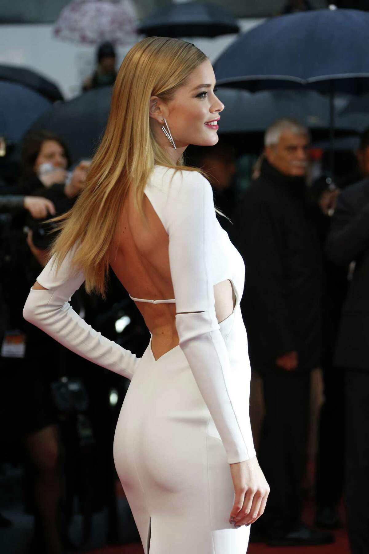 Dutch model Doutzen Kroes poses on May 18, 2013 as she arrives for the screening of the film