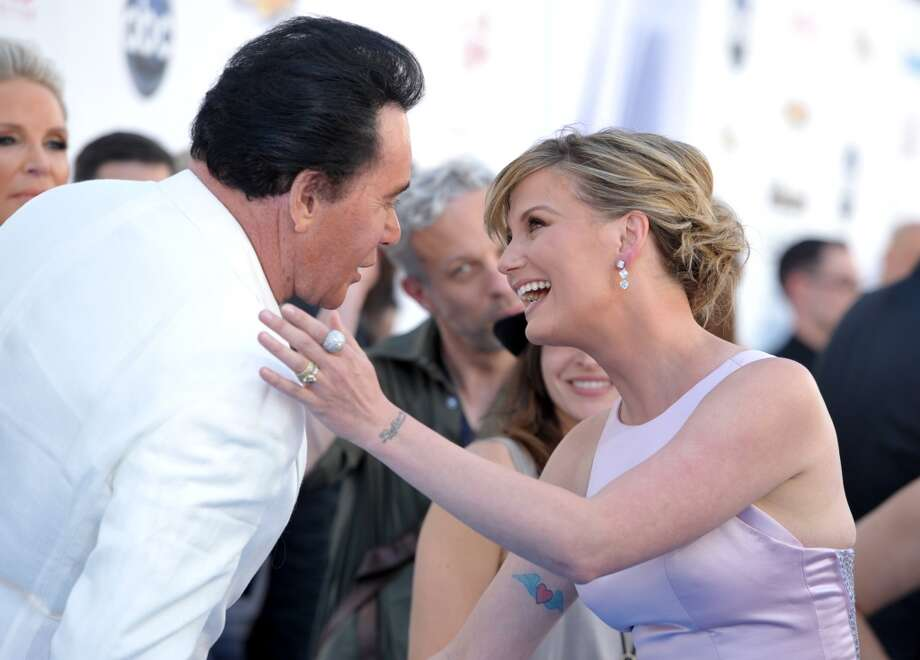 Wayne Newton, left, and Jennifer Nettles arrive at the Billboard Music Awards at the MGM Grand Garden Arena on Sunday, May 19, 2013 in Las Vegas. (Photo by John Shearer/Invision/AP)