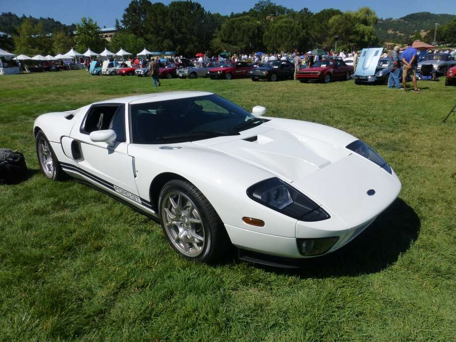 2005 Ford GT. This production car was based on the Le Mans-winning Ford GT40 of the 1960s. Owner: Virginia Bamford.