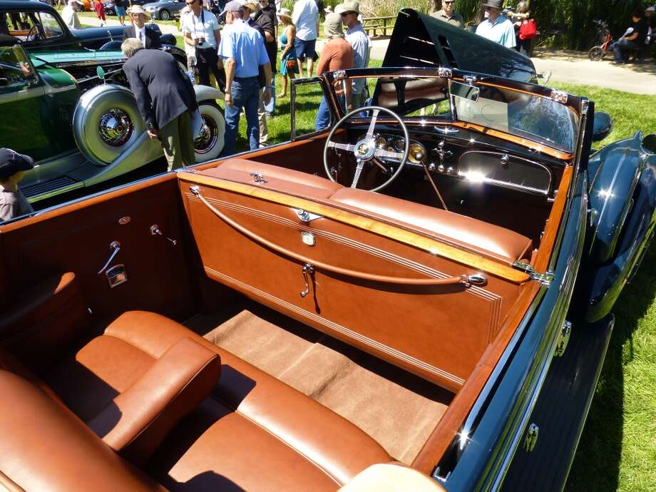Interior of the 1934 Cadillac.