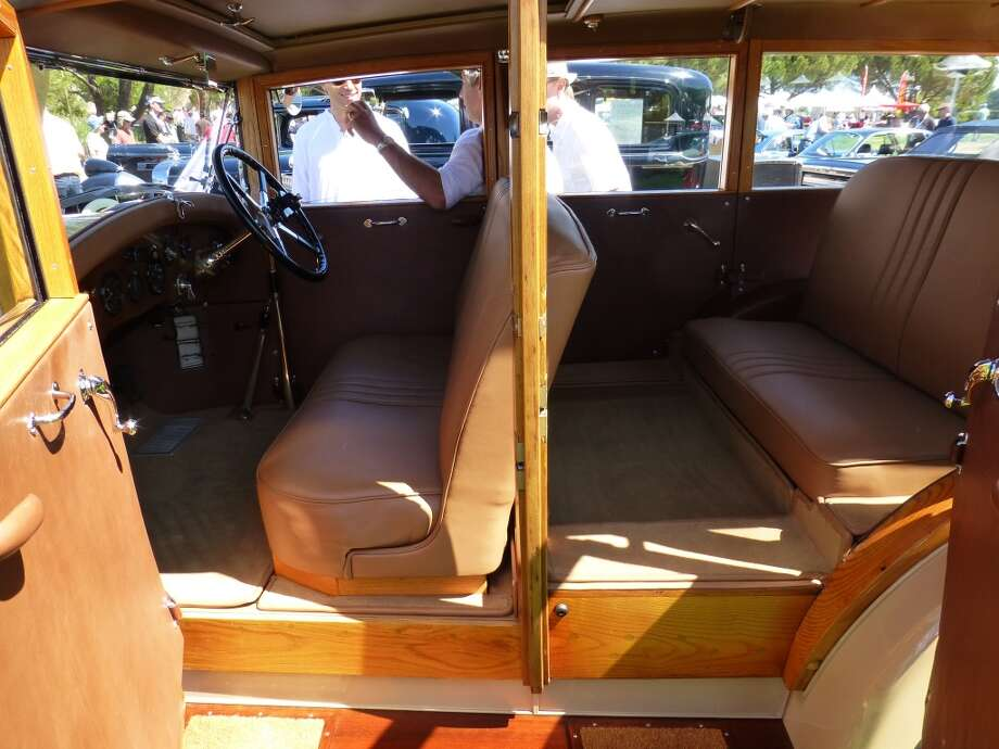 Interior of John Carey's Rolls-Royce Shooting Brake.