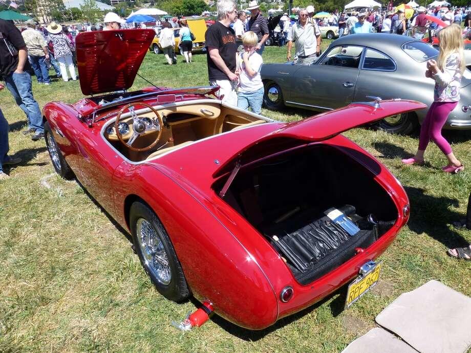 1956 Austin-Healey 100 Le Mans convertible. Owner: Hudson Vitaich, Sacramento, Calif.