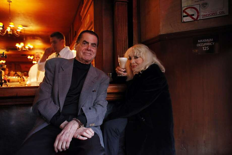 Carol Doda, right, and Dick Winn are seen at Tosca on Sunday, May 19, 2013, before the restaurant closed for renovations. Photo: Carlos Avila Gonzalez, The Chronicle