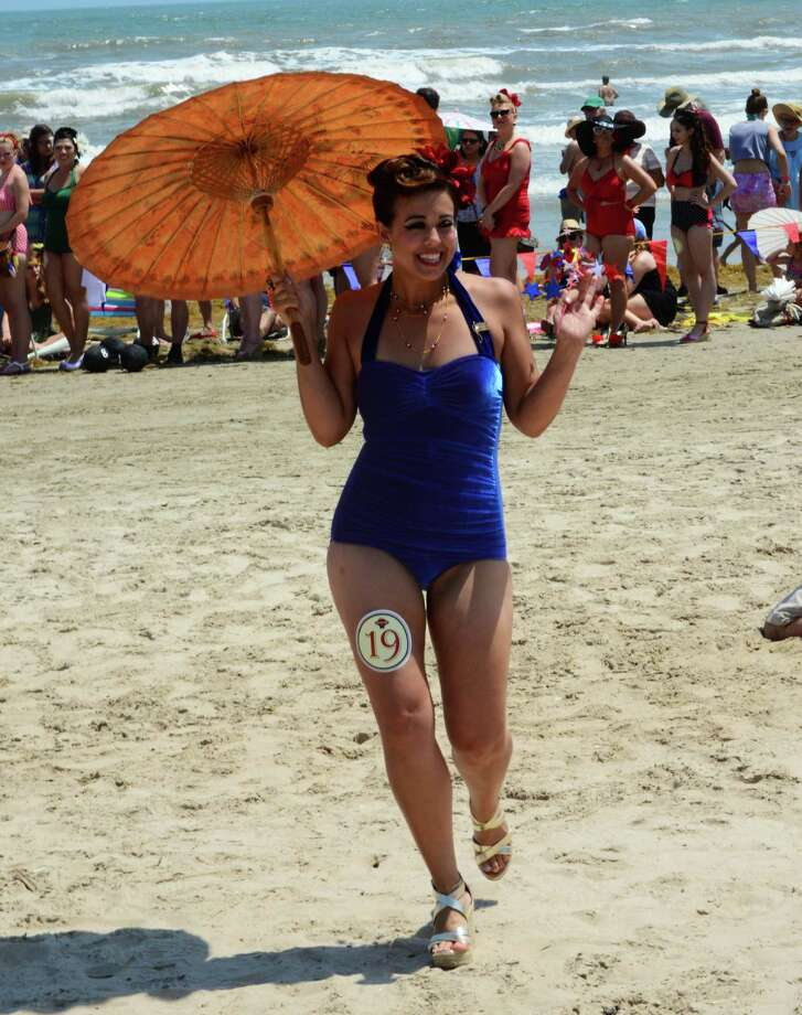 Beach Revue bathing beauties contest, Saturday, May 18 in Galveston Photo: Buck Bedia/For The Chronicle