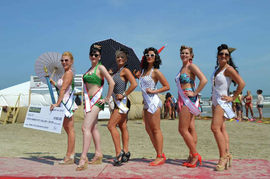 Beach Revue bathing beauties contest, Saturday, May 18, 2013 in Galveston Photo: Buck Bedia/For The Chronicle