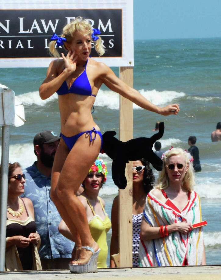 Beach Revue bathing beauties contest, Saturday, May 18 in Galveston. Photo: Buck Bedia/For The Chronicle