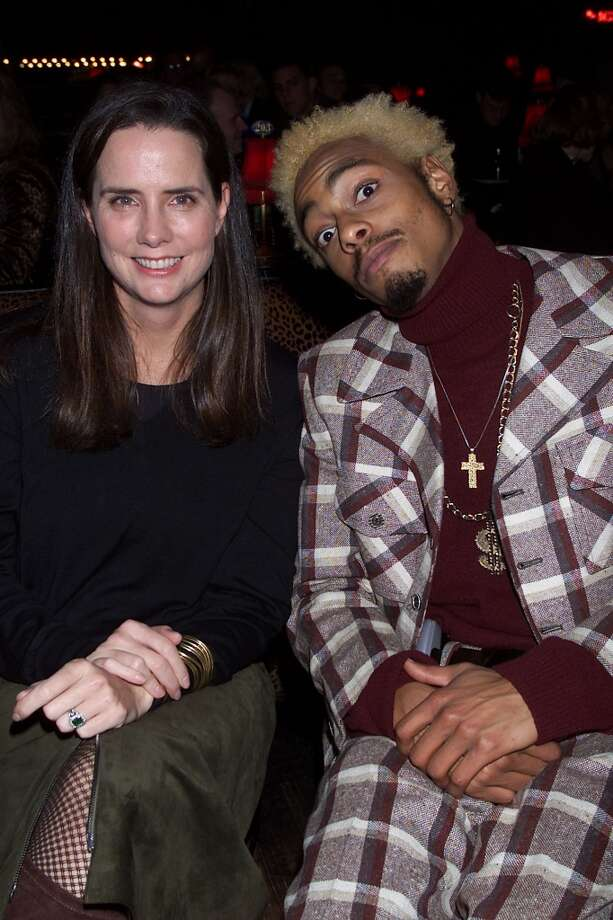 Katie Ford and MTV VJ Teck at Ford's 'Supermodel of the World Search' at Studio 54 in New York in 2000.